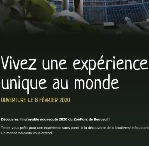 la nouveauté 2020 au Zool de Beauval